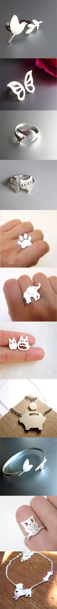 Animal Silver Ring on Smilingsilversmith