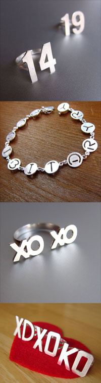 Custom Initial Jewelry & Number Rings